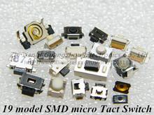 19 модель / 190 шт. SMD микро-переключатель сторона переключатель широко используется для MP3 MP4 MP5 планшет пк смартфон объем выключатель