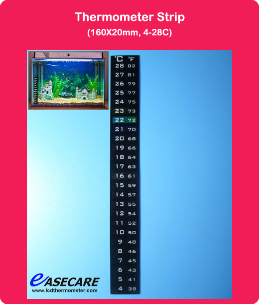 Aquarium Thermometer for Fish Tank, 4-28 degree in Celsius and Fahrenheit scale, 500pcs/lot, Free Shipping by DHL(China (Mainland))