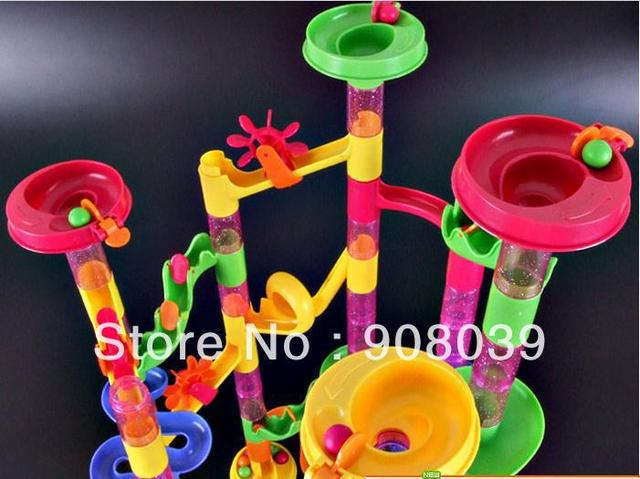 New year gift  ball-and-roller building blocks assembling toys educational child plastic toy