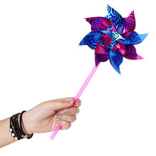 10 Colorful Plastic Windmill Toy Spinners Pinwheels Spinner Whirl DIY Outdoor Beautiful Changing Flower Children Kids Windmills(China (Mainland))