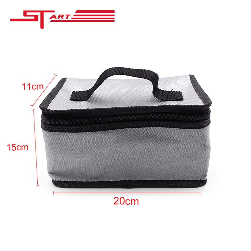 50pcs/lot Wholesale DJI Phantom 4 3 Battery Parts Fireproof RC LiPo Battery Safety Bag 20x11x15cm Safe Guard for DJI Phantom 4