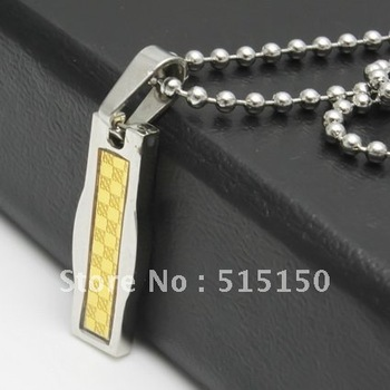 Fashion jewelry women Health Stainless Steel silver gold Pendant with chain, FREE SHIPPING