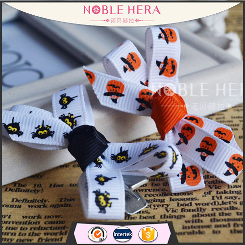 Baby carton pattern printing stain ribbon bowknot hairpins for hair girls hair clip supplier in china wholesale hair jewelry new(China (Mainland))