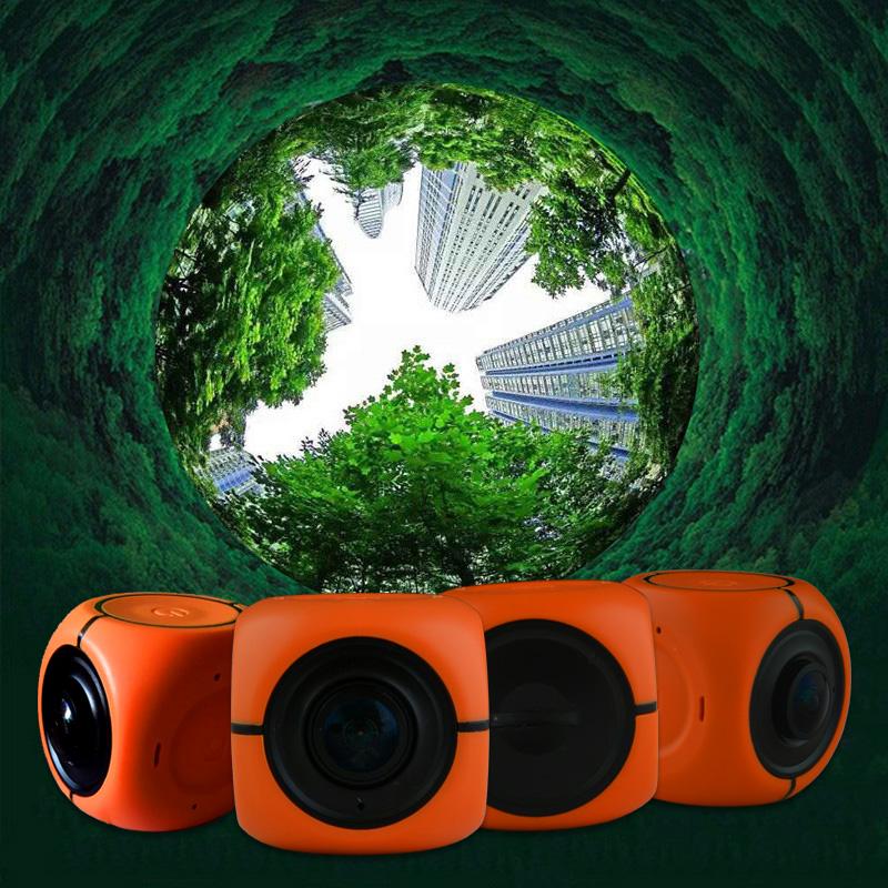 Panoview Panoramic Helmet Cam Cube Camera 360 Degree Sport Action DV Camera for Motocross Bicycle Hiking Dumpling(China (Mainland))