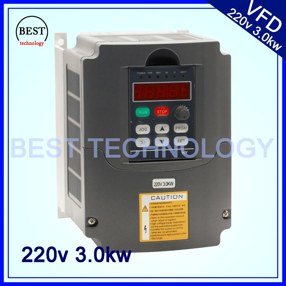 220v Vfd Variable Frequency Drive Inverter Vfd 1hp Or 3hp Input 3hp Output Cnc Driver