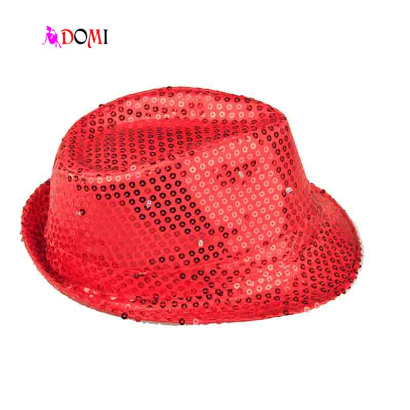 Red Black Blue White Glow Flashing Bowler Hat LED Hats for Dance, Nightclub Party Glow Toys Luminous Cap Supplies(China (Mainland))