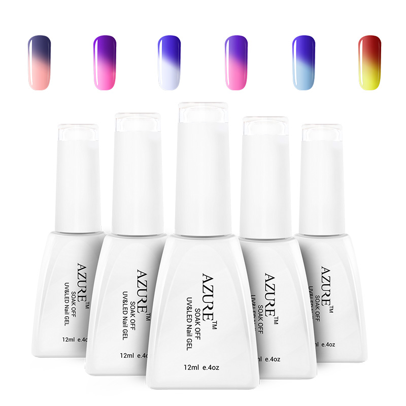 Azure Temperature change gel beauty magnetic gel nail polish gel varnish lacquer paint for nails glue UV lamp(China (Mainland))