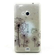 For Nokia Lumia 535 Case Colorful Pattern Glitter Powder IMD TPU Case for Microsoft Lumia 535