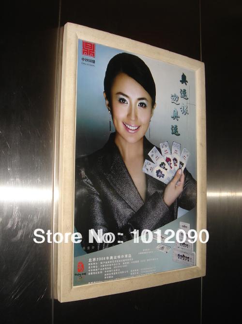Elevator advertising box/ad box/wallmounted advertising post frames/Size:45X60CM(China (Mainland))