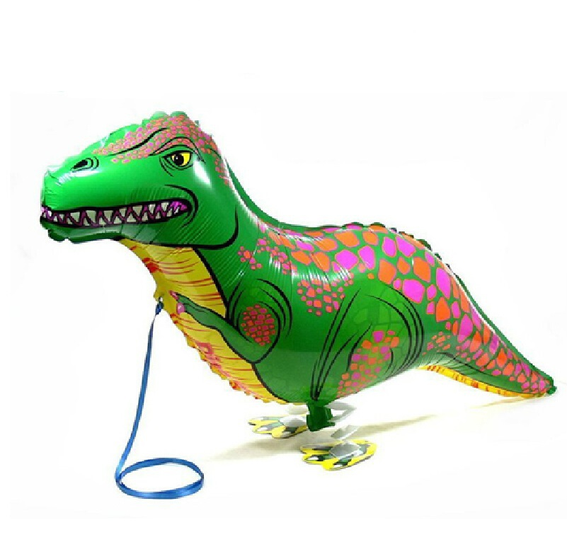Hot 5pcs/lot Dinosaur balloon walking balloon animals inflatable air ballon for dinosaur party supplies 90X40CM kids classic toy(China (Mainland))