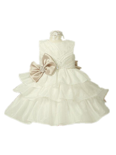 Lovely Princess Baby Girl Dress Christening Gowns Christmas 1 Year Birthday Flower Dresses 8084