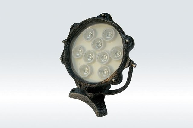 9*1WLED Underwater Light;DMX512 compatible;DC12V input;IP68;die-casting aluminium housing;green color;P/N:FST-HFL-W9L-04