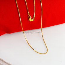 wholesale 24K gold necklace snake chain women Pendant Necklace high simulation thousand of gold two years warranty does not fade(China (Mainland))