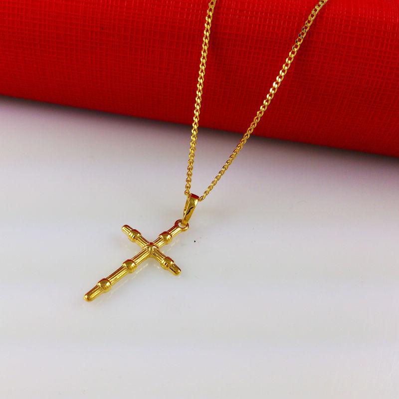 2014 new 24k gold necklaces cross pendant trendy accessories top product description aloadofball Images