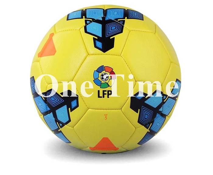 2015 Hot Sale La Liga Match Ball Top Quality Soccer Ball TPU Machine Stiched Official Weight Size 5 Football For Match(China (Mainland))
