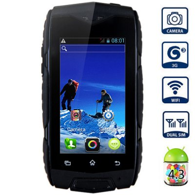 2.5inch MINI Smart Military Waterproof Dustproof Shockproof Phone JEEP V10 Android 4.3 MTK6572 Dual Core GSM/WCDMA Dual SIM WIFI(China (Mainland))