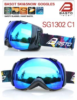 Стиль большой двойной линзы лыжные очки снег сноуборд очки лыжные очки