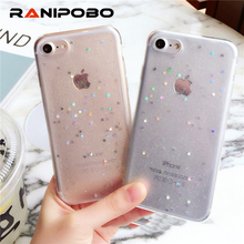 Buy Luxury Bling Glitter Transparent Star Soft TPU Back Cover iPhone 6 6S Plus 7 7 Plus Case Powder Ultra Thin Phone Cases for $1.39 in AliExpress store
