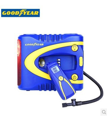 Goodyear 12V 10A Air Compressor Multi-function Automatic Inflatable Pump With Convenient The Tire Pressure Gauge and LED Light(China (Mainland))