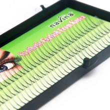 Buy NAVINA Handmade False Eyelashes D Lash W lash Natural Long Black Individual 3D Fake Eyelash Extension Kit 8mm10mm12mm Options for $2.68 in AliExpress store