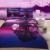 3d swan sunset purple bedding set sheet Quilt/Duvet/comforter cover pillow Case 4 kits Queen double size