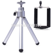 Clip Holder Mount Bracket adapter Rotatable Mobile Cell Phone Camera Trfor iPod Stand for iPhone for HTC DC476-SZ