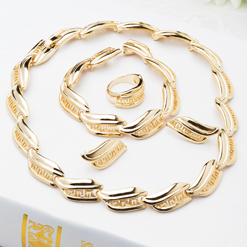 Fashion Women Wedding Dress Accessories New Style 2015 Gold Plated Imitation Jewelry,Charm Jewelry Set J085 - Verynice store