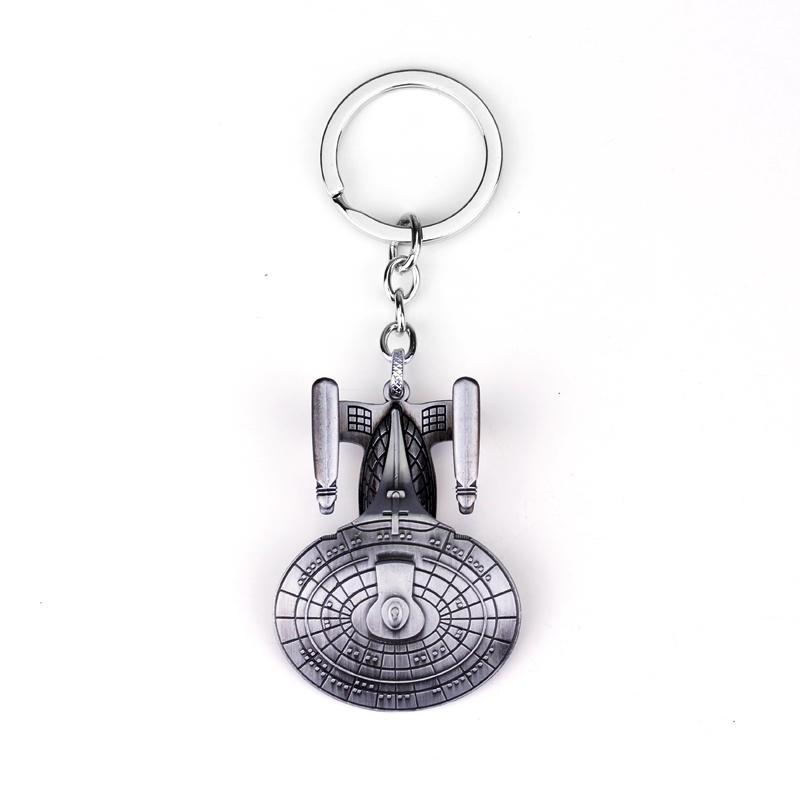 Hot Star Trek United Star Ship Enterprise Keychain Jewelry Star Ship Enterprise Model Keychain Star Trek New Fashion Key Chains(China (Mainland))