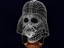 Free Shipping 1Piece Star Wars ! Darth Vader LED Lamp Bulbing Light Millennium Falcon Toy Room Decor(China (Mainland))