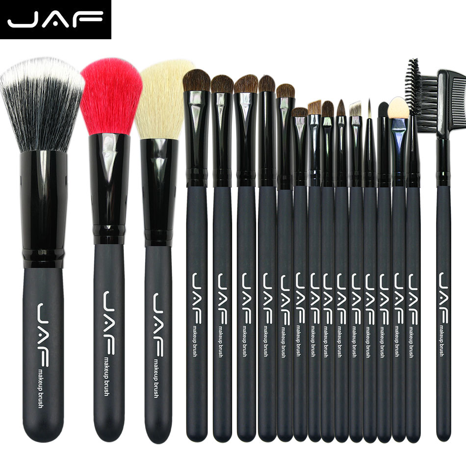 jaf brush 18pcs Animal hair Makeup Brushes professional cosmetic Kits Makeup Brush Set Eyeshadow Foundation Eyebrow Brush(China (Mainland))