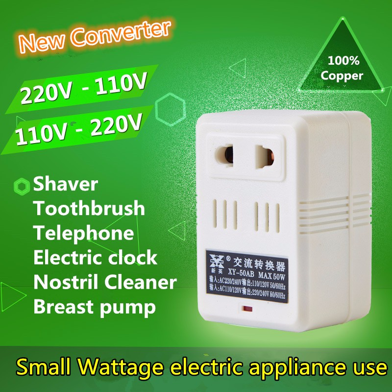Voltage Converter 2 mode AC 100V 110V/120V to 220V/240V US-EU Transformer Power Converter Adapter Led Toothbrush Electronic clo