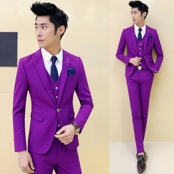 Purple And White Prom Suits - Suit La