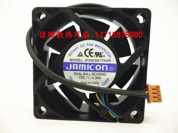 6025 12V 0.38A  JF0625B1TKAR 4line PWM cooling fan 6cm 60*60*25mm<br><br>Aliexpress