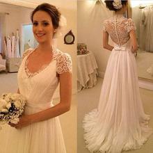 Fantasy Long Garden Wedding Dress Lace A-Line Bridesmaid Formal Dresses Russian Simple Wedding Dresses Maxi Bridesmaid Dresses(China (Mainland))