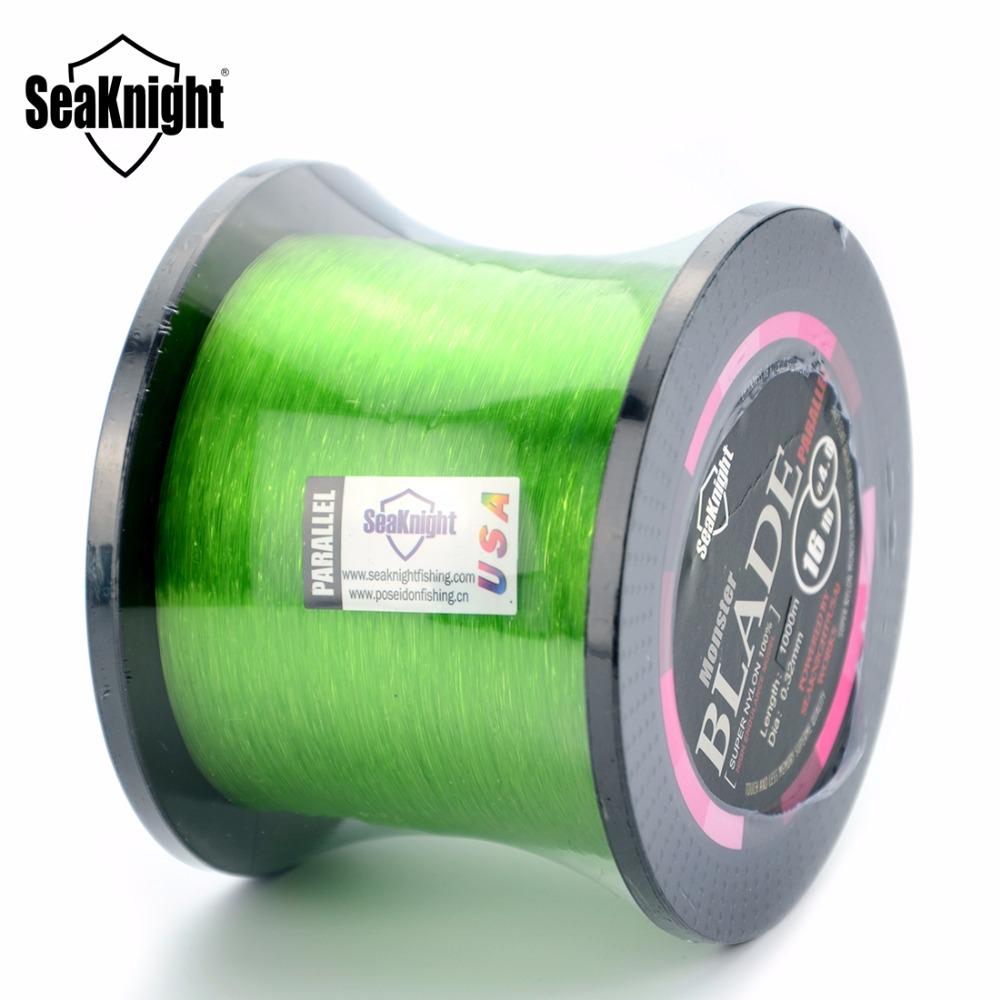 Seaknight Brand Nylon Fishing Lines 1000M 2 - 35LB Blade Monofilament Color Nylon Line 0.5mm Material Leader line Developed line(China (Mainland))