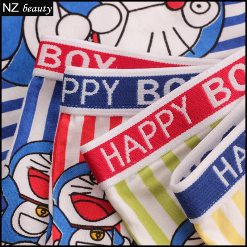 Высокая - класс хлопок боксер милый мальчик нижнее белье кот лицо синий бренд удобные дышащие брюки опт и розница