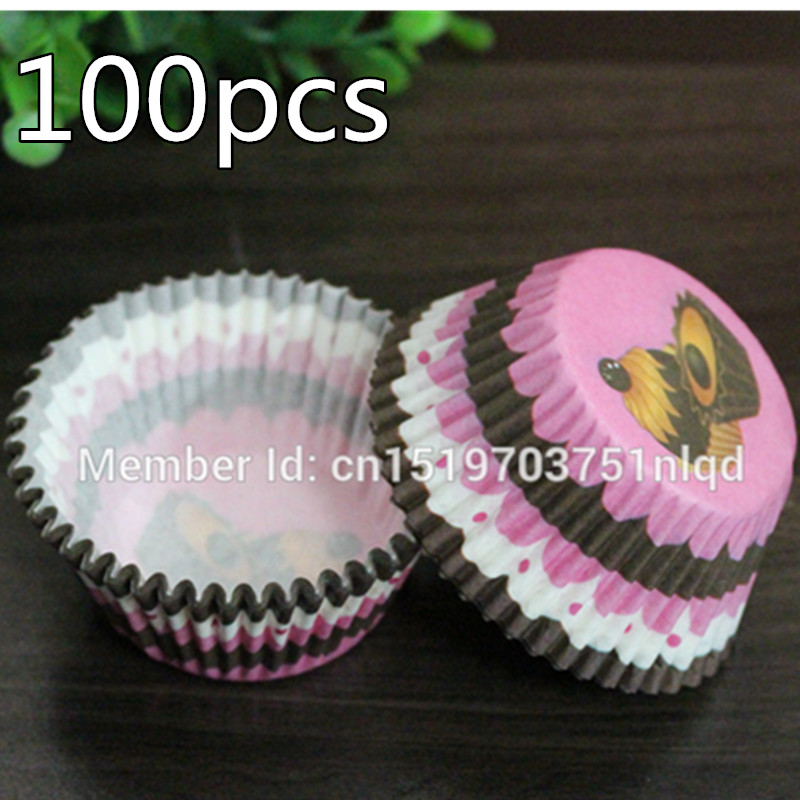 Rainbow color 100 pcs cupcake liner baking cup cupcake paper muffin cases Cake box Cup tray cake mold decorating tools(China (Mainland))