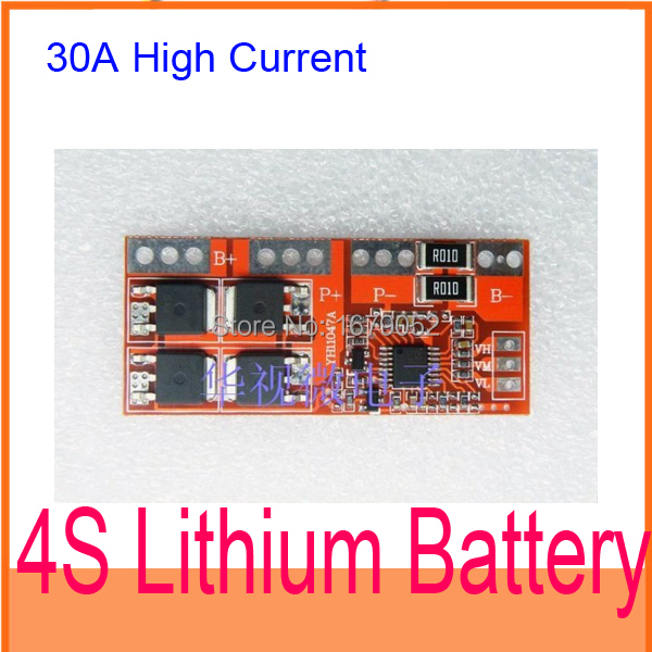 4S 30A High Current Li-ion Lithium Battery 18650 Charger Protection Board 14.4V 14.8V 16.8V Overcharge, over , short circuit(China (Mainland))