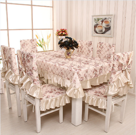 Factory outlets, new style printing tablecloth, high-quality dining chair cushion cover, home, party, wedding decoration, 13pcs(China (Mainland))