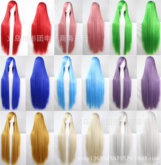 14 colors 100 cm cheap synthetic lace front wig blonde micro braided long synthetic wigs peruca cosplay wig straight wigs pink(China (Mainland))