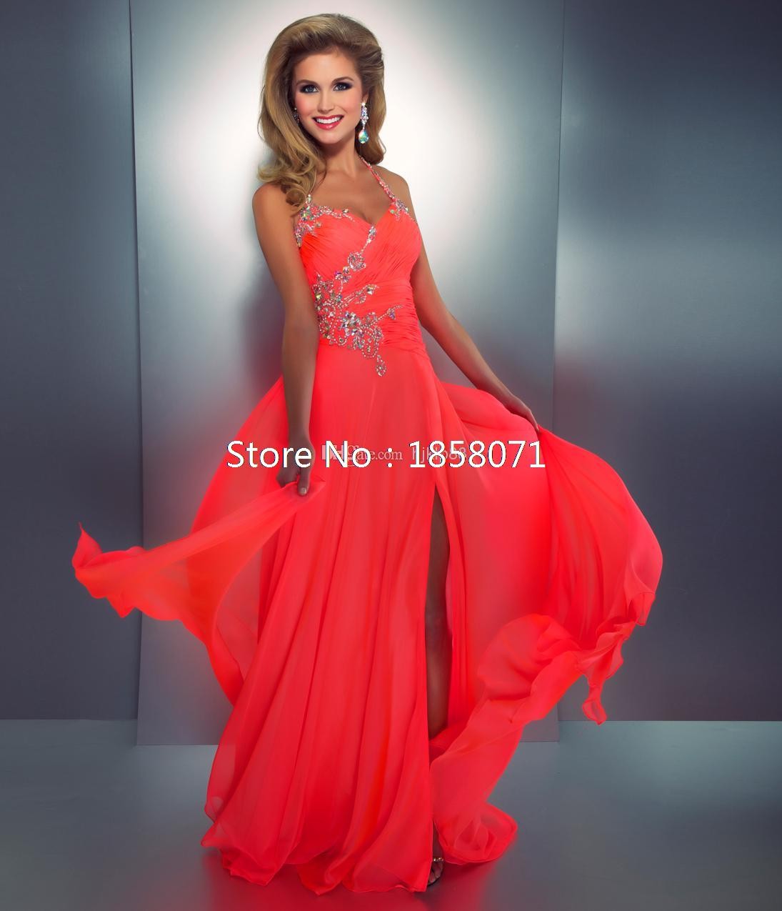 Neon Pink Prom Dress - Cocktail Dresses 2016