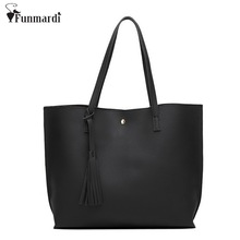 Buy New Simple Fashion Designers Brand Handbags Famous Large Women Bags tassel Big PU LEATHER BAGS/Shoulder Tote Bags WLHB1409 for $13.75 in AliExpress store