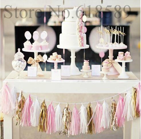 14 Inch Tissue Paper Tassel Garland Diy Wedding Decoration Paper Flower Decorations Birthdays Party Decorations Event Gift Pack(China (Mainland))