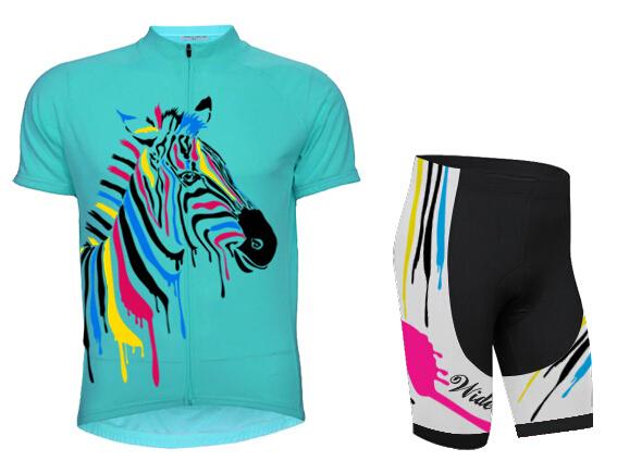 Summer Outdoor Cycling sportwear Green shoulder Jersey+Bib Shorts Set (China (Mainland))