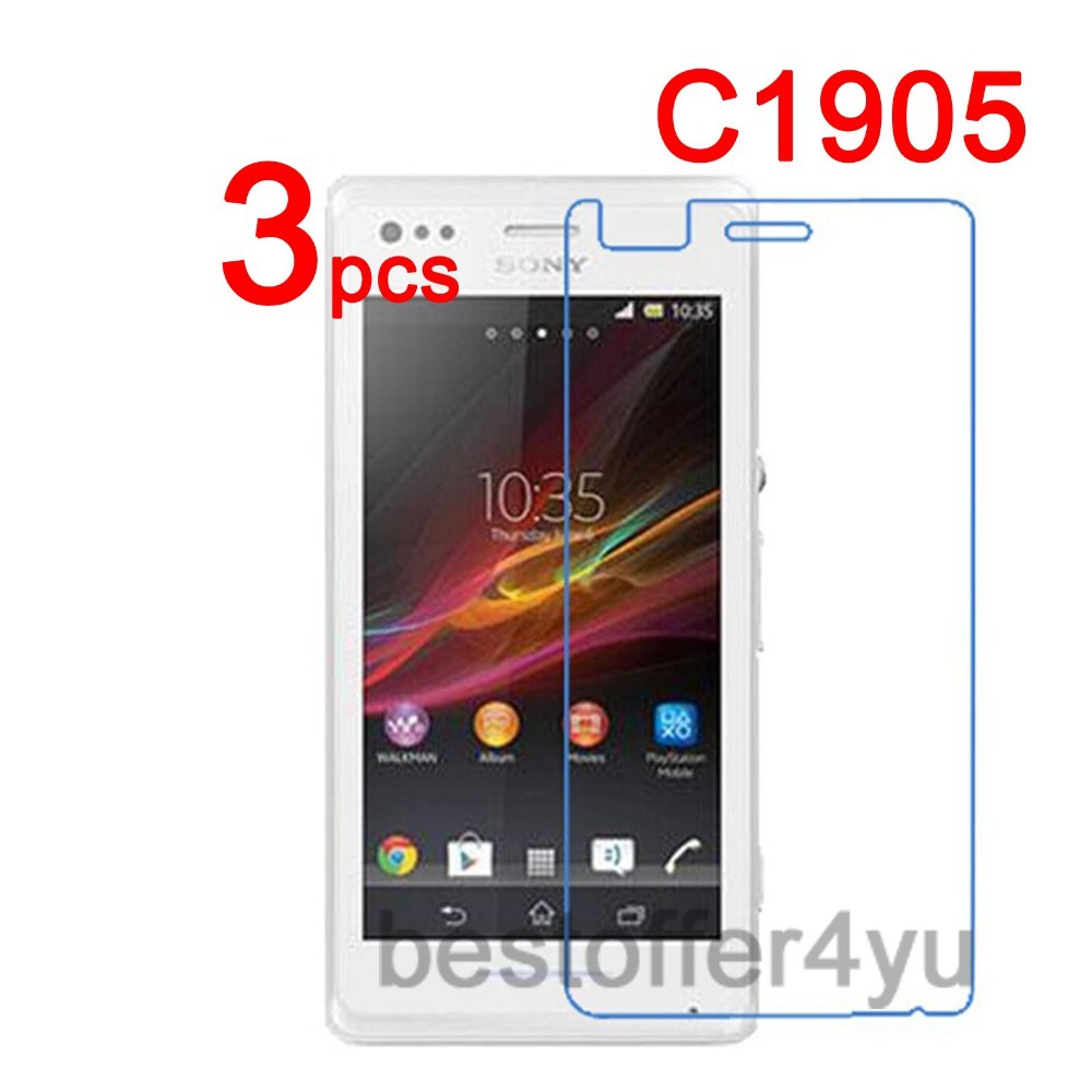 3pcs Anti-scratch CLEAR LCD C1905 Screen Protector Guard Cover Film For Sony Xperia M C1905 C2004 C2005 C1904 Protective Film(China (Mainland))
