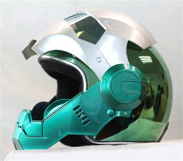 Personality motorcycle helmet Genuine male iron 610 man retro the high-end off-road motorcycle green electroplating