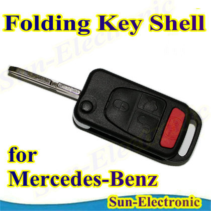 Remote flip folding fob key shell case for mercedes benz for Key for mercedes benz cost