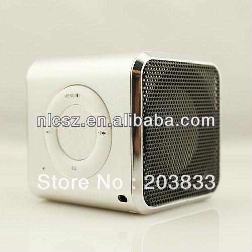 Free shipping +  Black Original Mini TF Micro SD FM Radio Audio Stereo CD Digital Speaker Player