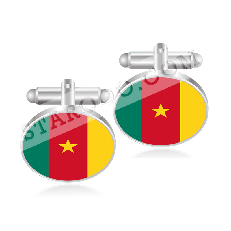 Cameroon Canada Cape Verde Cayman Islands Central African Republic Chad Flag Cufflinks(China (Mainland))