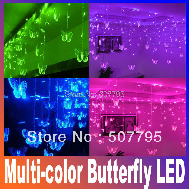 Светодиодная лампа Oem 3,5 100SMD 110 /220 /,  Doration Multi-color Butterfly LED